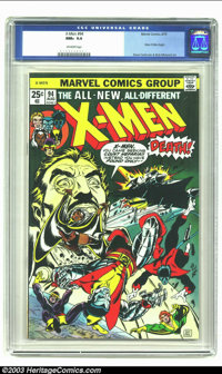 X-Men #94 (Marvel, 1975) CGC NM+ 9.6 Off-white pages. The original X-Men series had languished in popularity, finally re...