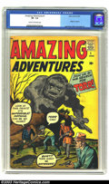 Silver Age (1956-1969):Superhero, Amazing Adventures #1 (Marvel, 1961) CGC VF- 7.5 Cream to off-white pages. Behind this typical Marvel pre-hero monster cover...