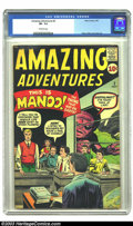 Silver Age (1956-1969):Adventure, Amazing Adventures #2 (Marvel, 1961) CGC VF- 7.5 Off-white pages. This fun pre-hero Marvel has the usual line-up of campy mo...