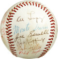 Autographs:Baseballs, Baseball Stars Multi-Signed Baseball. Exceptional collection ofsignatures includes several Hall of Famers and others favor...