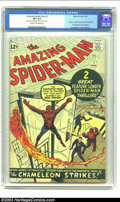 Silver Age (1956-1969):Superhero, The Amazing Spider-Man #1 (Marvel, 1963) CGC VF+ 8.5 Cream tooff-white pages. This is quintessential Spider-Man by co-creat...