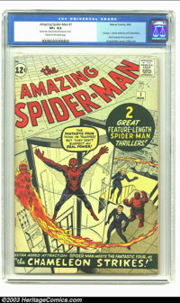 The Amazing Spider-Man #1 (Marvel, 1963) CGC VF+ 8.5 Cream to off-white pages. This is quintessential Spider-Man by co-c...