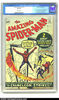 Amazing Spider-Man #1 (Marvel, 1963) CGC VF 8.0 Off-white pages. The Webslinger had one try-out issue, Amazing Fantasy #...