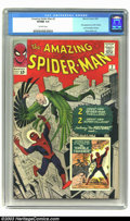 Silver Age (1956-1969):Superhero, Amazing Spider-Man #2 (Marvel, 1963) CGC VF/NM 9.0 Off-white pages.This beautiful copy of Spidey's second issue is not easy...