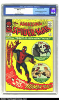 Silver Age (1956-1969):Superhero, Amazing Spider-Man #8 (Marvel, 1964) CGC NM 9.4 Off-white pages. This high-grade copy exhibits eye-popping color and gloss. ...