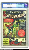Silver Age (1956-1969):Superhero, Amazing Spider-Man #9 (Marvel, 1964) CGC NM 9.4 Off-white pages. This high-grade beauty has a perfect spine, superior page q...