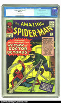 Silver Age (1956-1969):Superhero, Amazing Spider-Man #11 (Marvel, 1964) CGC NM- 9.2 Off-white towhite pages. This comic features the second appearance of Spi...