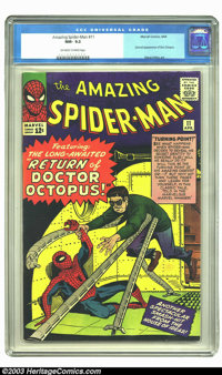 Amazing Spider-Man #11 (Marvel, 1964) CGC NM- 9.2 Off-white to white pages. This comic features the second appearance of...