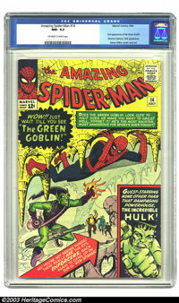 Amazing Spider-Man #14 (Marvel, 1964) CGC NM- 9.2 Off-white to white pages. This Silver Age classic has great artwork by...