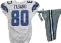 Football Collectibles:Uniforms, 2006 Anthony Fasano Game Worn Jersey with Pants. Notre Dame alum Anthony Fasano has done well for himself since being draft...