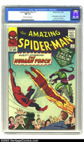 """Silver Age (1956-1969):Superhero, Amazing Spider-Man #17 (Marvel, 1964) CGC NM 9.4 Off-white to whitepages. The Green Goblin makes his dramatic return (""""And ..."""
