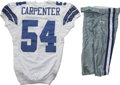 Football Collectibles:Uniforms, 2006 Bobby Carpenter Game Worn Jersey with Pants. A standout linebacker at the collegiate level for the Ohio State Universi...