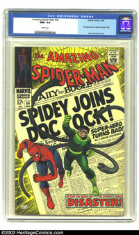 Amazing Spider-Man #56 (Marvel, 1968) CGC NM+ 9.6 White pages. Spider-Man joins Dock Ock in this issue with John Romita...