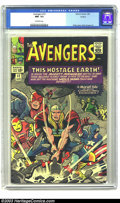 Silver Age (1956-1969):Superhero, The Avengers #12 Circle 8 pedigree (Marvel, 1965) CGC NM- 9.2 Off-white pages. The Mole Man and his yellow skinned minions h...