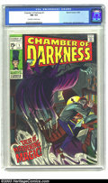 Silver Age (1956-1969):Horror, Chamber of Darkness #1 (Marvel, 1969) CGC NM 9.4 Off-white to whitepages. Here's some late supernatural Silver Age horror i...