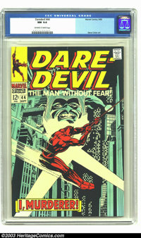 Daredevil #44 (Marvel, 1968) CGC NM 9.4 Off-white to white pages. Gene Colan gives us this cover and art, with our favor...