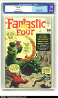 Silver Age (1956-1969):Superhero, Fantastic Four #1 (Marvel, 1961) CGC GD+ 2.5 Slightly brittle pages. Seeing this on the comics rack had to be a moving exper...