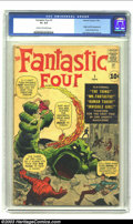 Silver Age (1956-1969):Superhero, Fantastic Four #1 (Marvel, 1961) CGC GD+ 2.5 Cream to off-white pages. Jack Kirby, already a legend, thanks primarily to his...