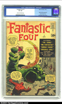 Fantastic Four #1 (Marvel, 1961) CGC GD+ 2.5 Cream to off-white pages. Jack Kirby, already a legend, thanks primarily to...