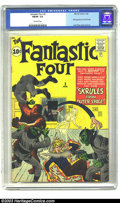 Silver Age (1956-1969):Superhero, Fantastic Four #2 (Marvel, 1962) CGC FN/VF 7.0 Off-white pages. Seasoned Marvelites know that the second issue of Fantasti...