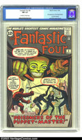 Silver Age (1956-1969):Superhero, Fantastic Four #8 (Marvel, 1962) CGC NM 9.4 Off-white to white pages. This early issue of The Fantastic Four contains th...