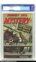 Silver Age (1956-1969):Horror, Journey into Mystery #65 (Marvel, 1961) CGC VF- 7.5 Off-whitepages. Kirby and Ditko honor this book with some of their tren...