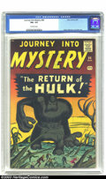 Silver Age (1956-1969):Horror, Journey into Mystery #66 (Marvel, 1961) CGC FN+ 6.5 Off-whitepages. The Overstreet Comic Book Price Guide lists this bo...