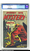 Silver Age (1956-1969):Horror, Journey into Mystery #67 (Marvel, 1961) CGC VF+ 8.5 Off-white towhite pages. Steve Ditko fills this cover with Gruto, the c...