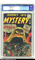Silver Age (1956-1969):Horror, Journey into Mystery #68 (Marvel, 1961) CGC FN/VF 7.0 Off-white towhite pages. Spragg the conqueror of the human race prepa...