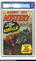 Silver Age (1956-1969):Horror, Journey into Mystery #69 (Marvel, 1961) CGC VF- 7.5 Off-white towhite pages. Korilla does a bit of creative kidnapping on t...