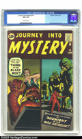 Silver Age (1956-1969):Horror, Journey into Mystery #74 (Marvel, 1961) CGC VF+ 8.5 Off-whitepages. This issue marks the transition from horror to fantasy ...