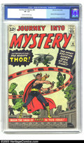 Silver Age (1956-1969):Superhero, Journey into Mystery #83 (Marvel, 1962) CGC VF- 7.5 Cream tooff-white pages. August 1962 was a very good month for origins ...