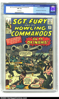 Sgt. Fury and His Howling Commandos #10 (Marvel, 1964) CGC NM- 9.2 Off-white pages. In a homage to the master of freneti...