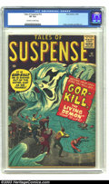 """Silver Age (1956-1969):Horror, Tales of Suspense #12 (Marvel, 1960) CGC VF 8.0 Off-white to whitepages. With a water demon named """"Gor-Kill"""" how could you ..."""