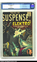 Silver Age (1956-1969):Adventure, Tales of Suspense #13 (Marvel, 1961) CGC VF 8.0 Off-white pages. On this Elektro cover by none other than Jack Kirby and Ste...