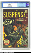 """Silver Age (1956-1969):Science Fiction, Tales of Suspense #15 (Marvel, 1961) CGC FN/VF 7.0 Off-white towhite pages. """"Behold...... Goom!... the Thing from Planet X!..."""
