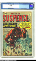 Silver Age (1956-1969):Adventure, Tales of Suspense #25 (Marvel, 1962) CGC VF 8.0 Off-white pages. This last ten cent issue shows Monstrollo terrorizing an Ol...