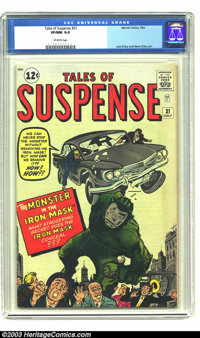 """Tales of Suspense #31 (Marvel, 1962) CGC VF/NM 9.0 Off-white pages. The cover feature, """"The Man in the Iron Mask,&q..."""