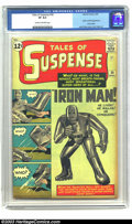 Silver Age (1956-1969):Superhero, Tales of Suspense #39 (Marvel, 1963) CGC VF 8.0 Cream to off-whitepages. After the introduction over the previous 16 months...