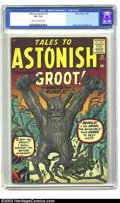 """Silver Age (1956-1969):Science Fiction, Tales to Astonish #13 (Marvel, 1960) CGC VF- 7.5 Cream to off-whitepages. """"The Monster from Planet X!,"""" Root, er... """"Groot!..."""