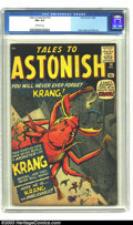 "Silver Age (1956-1969):Horror, Tales to Astonish #14 (Marvel, 1960) CGC FN+ 6.5 Off-white pages.The monster du jour is ""Krang, the Unbelievable!"" and it's..."