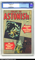 Silver Age (1956-1969):Mystery, Tales to Astonish #26 (Marvel, 1961) CGC FN/VF 7.0 Off-white pages.Jack Kirby's cover shows scenes taken from just two of t...
