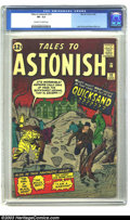Silver Age (1956-1969):Science Fiction, Tales to Astonish #32 (Marvel, 1962) CGC VF- 7.5 Off-white to whitepages. With footprints leading from a pool of quicksand ...