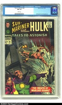 Tales to Astonish #86 (Marvel, 1966) CGC NM 9.4 White pages. Gene Colan demonstrates his mastery on this amazing Sub-Mar...