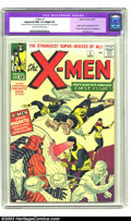 Silver Age (1956-1969):Superhero, X-Men #1 (Marvel, 1963) CGC Apparent NM 9.4 Slight (P) Cream tooff-white pages. While this killer copy does have some minor...