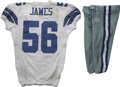 Football Collectibles:Uniforms, 2006 Bradie James Game Worn Jersey with Pants. Bradie James has stepped up his game as an effective defensive stopper for t...
