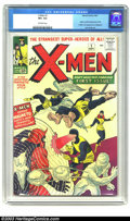 Silver Age (1956-1969):Superhero, X-Men #1 (Marvel, 1963) CGC VF+ 8.5 Off-white pages. The Marvelmutant madness begins with this issue, with the first appear...