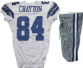 Football Collectibles:Uniforms, 2006 Patrick Crayton Game Worn Jersey with Pants. Patrick Crayton's emergence as a prominent receiver for the Dallas Cowboy...
