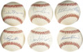 Autographs:Baseballs, 500 Home Run Club Members Single Signed Baseballs Lot of 6. A sweethalf dozen members of baseball's illustrious 500 Home Ru...