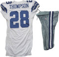 Football Collectibles:Uniforms, 2006 Tyson Thompson Game Worn Jersey with Pants. A native of Irving, Texas, Tyson Thompson has been familiar with the allur...